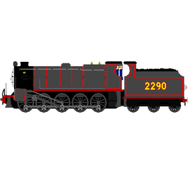 Bertha (Midland Railway Livery,Black) by XDhahah