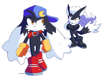 Commission Klonoa and Zero by Domestic-hedgehog