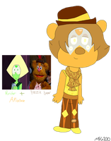 SuxMuppets Fusion-Peridot and Fozzie by mixelfangirl100