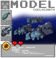 Minecraft - Coelacanth by Dragonith