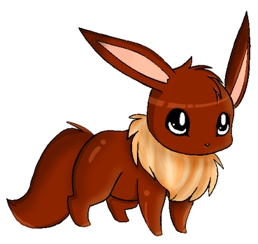 Eevee colored by xsherbearx