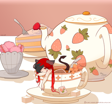 Teacup Kitsune by BlackZodiacQueen