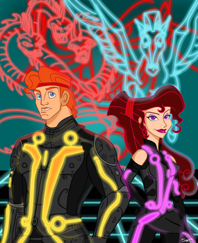 Tron: Hercules Style by sparrowscaribbean