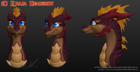 [P] 3D Rhaja Headshot by Neffertity