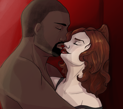 30 D OTP Challenge JohnxAlice Day12: Making Out by wolf-pirate55