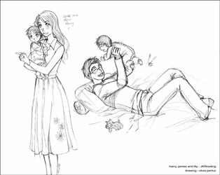 Baby Harry, James and Lily by Spacekitty04