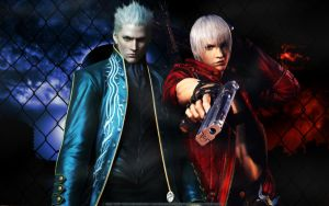The Twin (Vergil and Dante) by SilverCat-sama