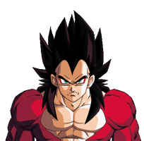 vegeta ssj4 budokai 3 white bg by Nassif9000