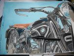 1934 BMW R11 Vintage Motorcycle Acrylic Painting by ivantremblac