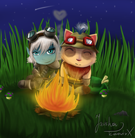 Teemo and Tristana by JarshaNighhow