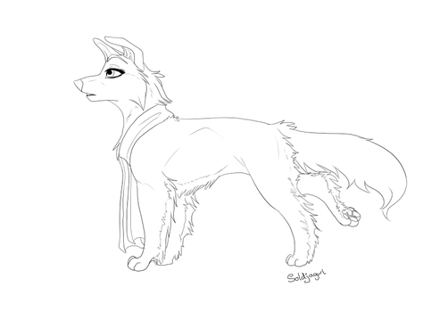 Line Art Free : Free canine lineart favourites by technicolordreamcat on deviantart