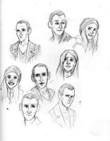 ninth doctor and rose doodles by niitsvee