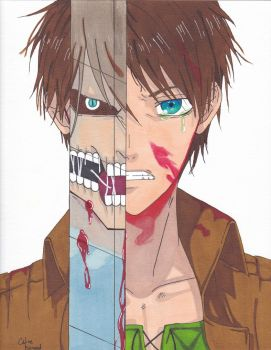 Eren Jaeger Attack on Titan by Sakuchane