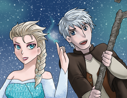 Jelsa Collaboration- Let's make a blizzard by HikariNinjaX