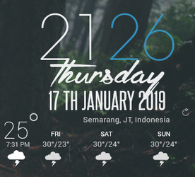 Weather 2.0 - RainMeter by Alphay0