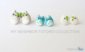 Chibi Totoro Earring Collection by theblueskye