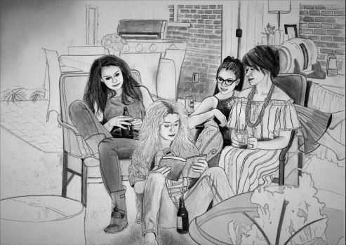 The Finale (Orphan Black Drawing WIP) by julesrizz