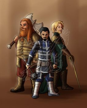 The Warriors Three by Berende