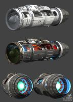 Su-30 MK2 wip5 Engine by Siregar3D