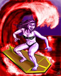Surfing Vampire color by rawjawbone