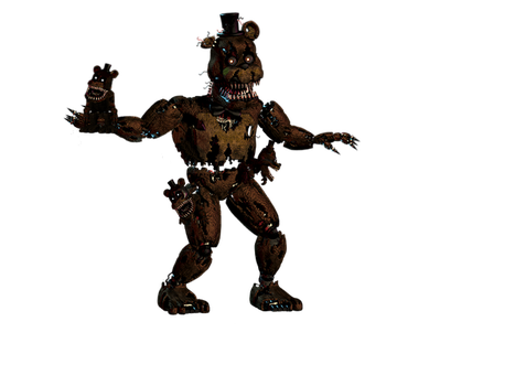 Nightmare Freddy Alternate Pose by PuppeteerGaming
