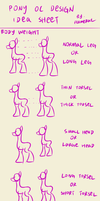 Pony OC design idea sheet: body weight by FlameRat-YehLon