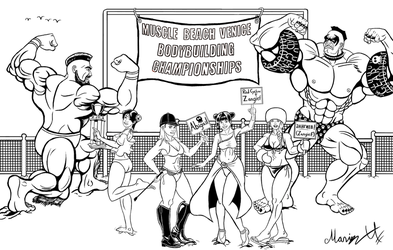 Street Fighter Summer Sports Special 2018 inked by MarioUComics