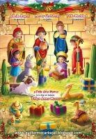 Merry Christmas Card altarpiece peru by guillecarbajal