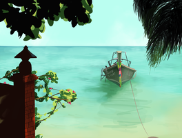 Beach Scene by Balimbang