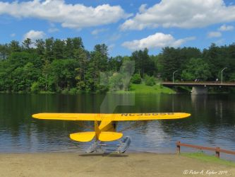 Seaplane, Tethered - Corinth, NY by peterkopher
