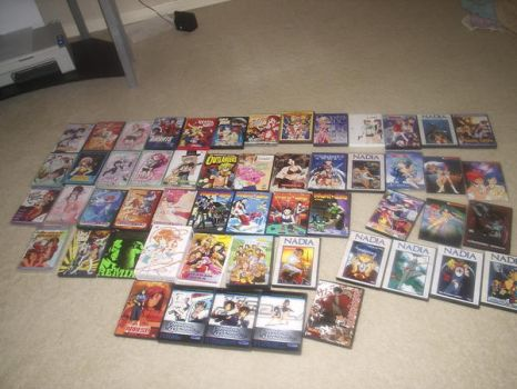 My entire anime collection. by GrilledEelHamatsu