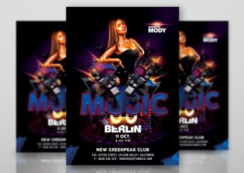 Ultra Modern Techno Music Party In Club by n2n44studio