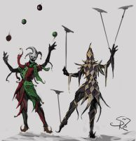 Jovial Jugglers by Halycon450