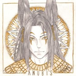[Pantheon] Sketch of Anubis by Shiro-Cainhive