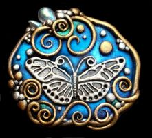 Butterfly Pendant or pin