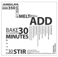Jambalaya Recipe in Typography by JASEighty6