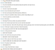 Italy and cleverbot by NessSophie
