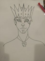 Queen Commander Eis (WIP) by ReignofEmery