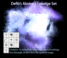 Abstract Smudge Set by defib