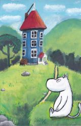 MOOMINTROLL SPEED PAINTING VIDEO by IDROIDMONKEY