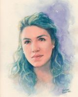 Sara watercolor by Trunnec