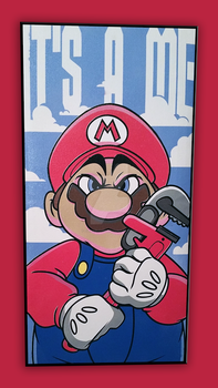Mario Painting by cgianelloni