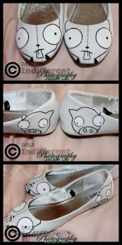 Shoes - Invader Zim 'GIR' - Outlined by IndifferentPhotos