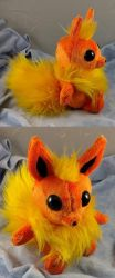 Flareon Chibi (for sale) by Bladespark