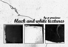 Black and White Textures by yawee