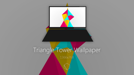 Triangle Tower Wallpaper by TheButterCat