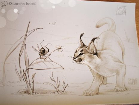 Day 28 - Caracal - by Loisa