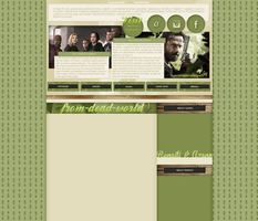 Hunger games/The walking dead layout by VelvetHorse