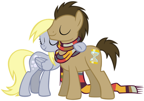 Derpy and Doctor Vector by X-BlackPearl-X