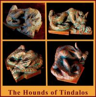 The Hounds of Tindalos - FB Long, Lovecraft Mythos by zombiequadrille